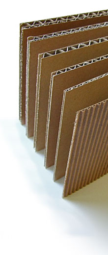Types of corrugated cardboard